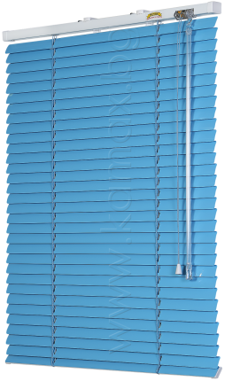 Venetian blinds front glass image