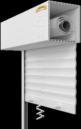 Exterior roller shutters model PVC