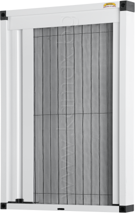 plisse insect screens- white color