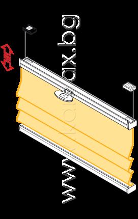 Римски щори модел Елеганте ВВ 15 изображение