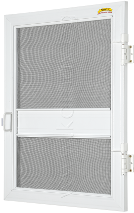 Fixed door insect screen