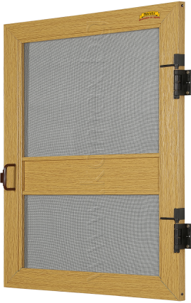 Fixed door insect screen Lux