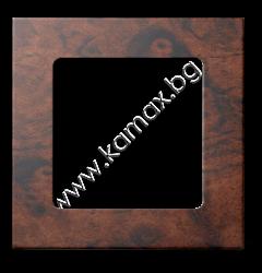рамка за Smoove бутон, цвят дървесен декор изображение