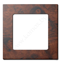 Frame for Smoove button, woodprint color image