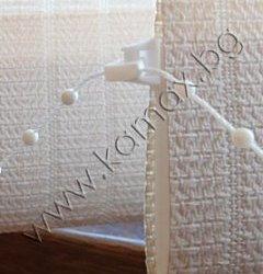 бяла тежест за плат/бял PVC синджир за тежести изображение