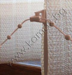 бежова тежест за плат/бежов PVC синджир за тежести изображение