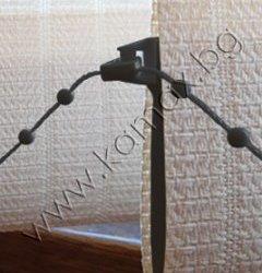черна тежест за плат/черен PVC синджир за тежести изображение
